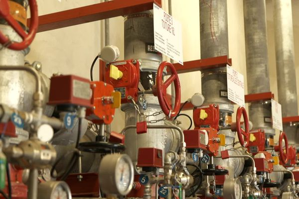 Illustration du système anti-incendie de Lubrizol