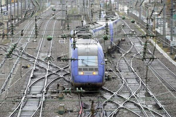 Un TER en gare de Rennes