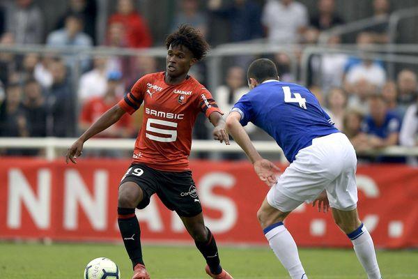 Yann GBOHO lors d'un match de préparation. Stade Rennais - Everton ( Grande Bretagne ) en juillet 2018