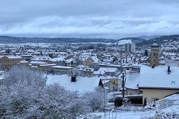 Vue de Pontarlier, ce vendredi 15 novembre 2019.