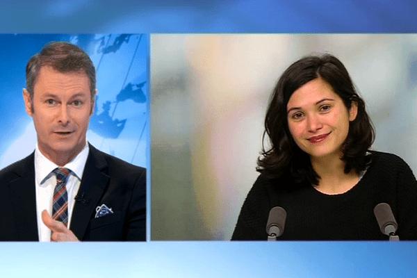 Julia Kerninon, en duplex, interviewée par Emmanuel Faure dans le 19/20 du 14 avril 2016.