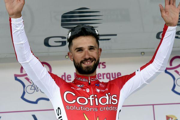 Nacer Bouhanni (Cofidis), vainqueur jeudi de la 3e étape des 4 Jours de Dunkerque.