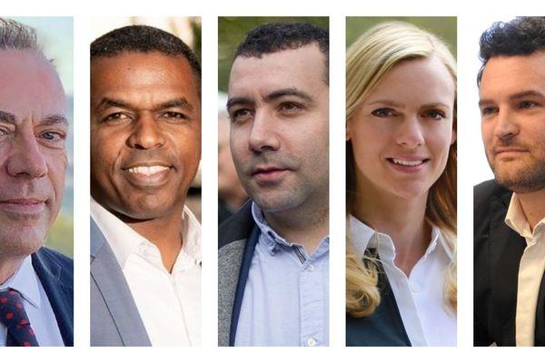 Les 5 candidats en lice pour la mairie de Blois.