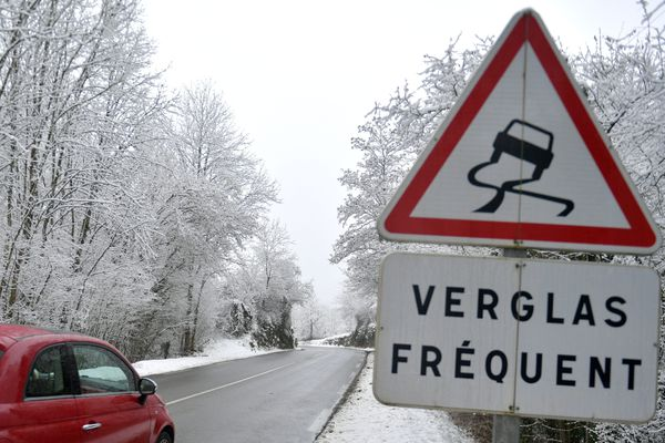 Verglas sur les routes, attention !