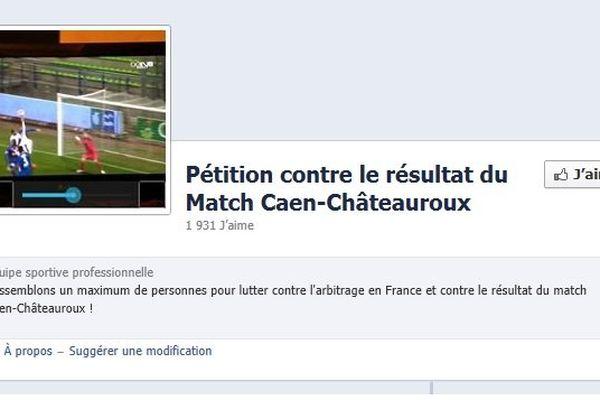 Près de 2000 internautes ont liké la page Facebook contre le résultat du match Caen-Châteauroux