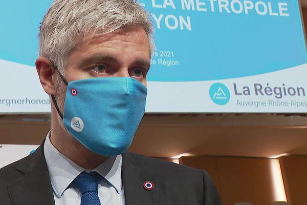 Laurent Wauquiez, président LR de la région Auvergne Rhône-Alpes - 12/3/21