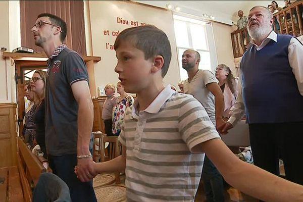 L'église de la Prairie, à Montbéliard, est le lieu de rassemblement de la petite communauté des anabaptistes mennonites.