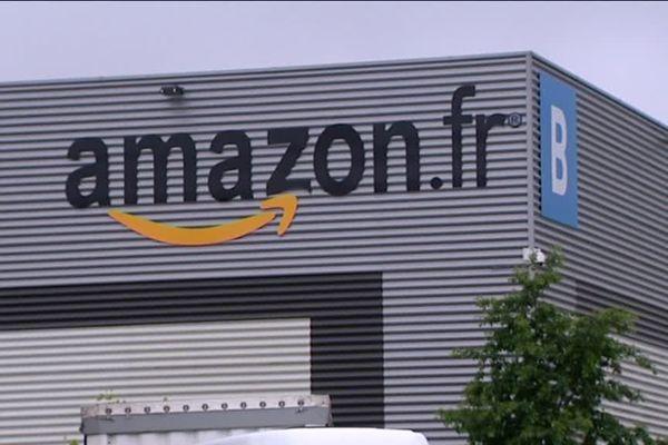 L'entrepôt Amazon de Sevrey/Chalon-sur-Saône.