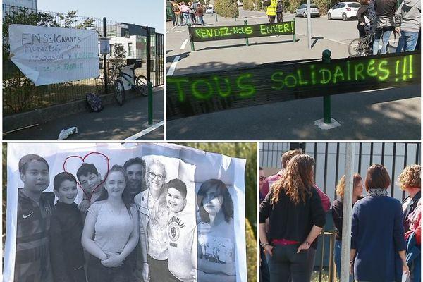 Châteauroux (Indre) : le collège Beaulieu en grève après l'expulsion d'une famille albanaise - 10 septembre 2019 -