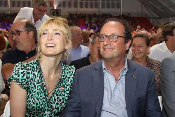 François Hollande et sa compagne Julie Gayet au festival Jazz in Marciac