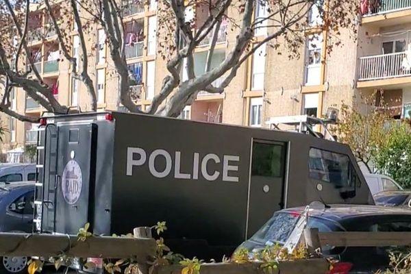Une fusillade a éclaté ce jeudi matin dans le quartier de l'île de Thau à Sète, le Raid s'est rendu sur place - 3 décembre 2020