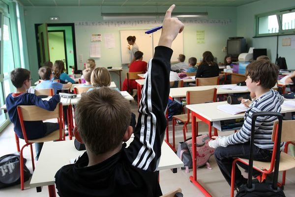 Une classe d'école (illustration).