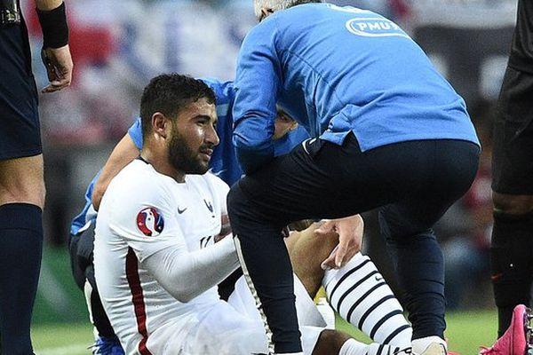 Nabil Fekir blessé lors du match amical de la France face au Portugal- Le 04/09/2015
