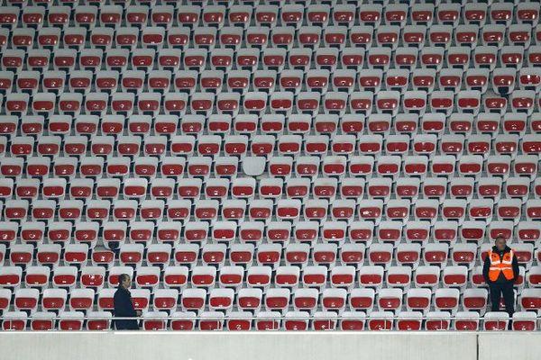 Au Stade Allainz de Nice le 4 avril après l'action des 300 supporters.