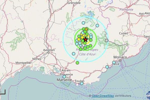 Gap : La Terre a tremblé toute la nuit à 30km de la ville jusqu'à une magnitude de 4,1