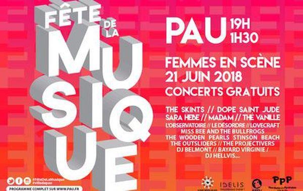 Fête de la Musique 2018 à Pau