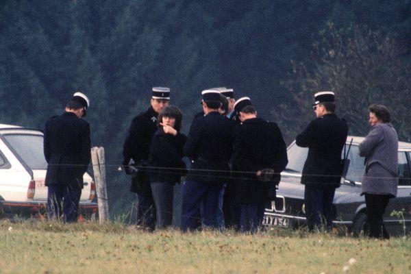 Le 30 octobre 1985 Christine Villemin participe à une reconstitution suite à la découverte de son fils Grégory retrouvé mort dans la rivière la Vologne dans les Vosges.