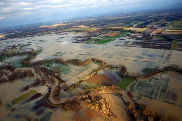 En janvier 2018, l'Ill avait quitté son lit débordant sur la plaine d'Alsace