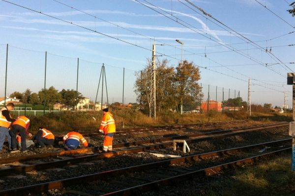 Le vol a eu lieu la nuit dernière près de la gare de Vénerque