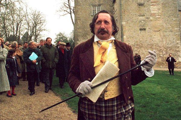 Un comédien représentant Honoré de Balzac accueille le 26 février 1999 au château de Saché - Photo d'illustration