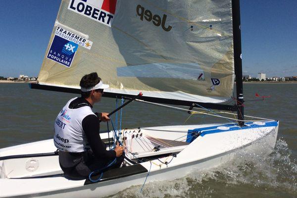 Jonathan Lobert à l'entraînement dans les pertuis de La Rochelle.