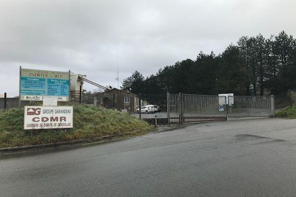 Accident à la carrière Garandeau en Charente
