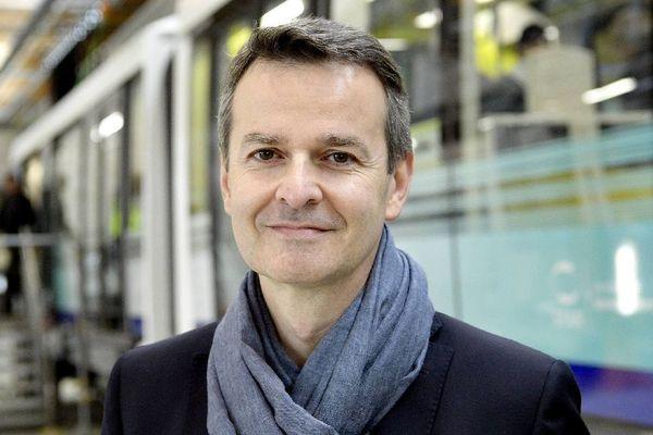 Emmanuel Couet Président de Rennes Métropole, lors de Portes ouvertes de l'atelier-garage de la nouvelle ligne de métro - 14 octobre 2017