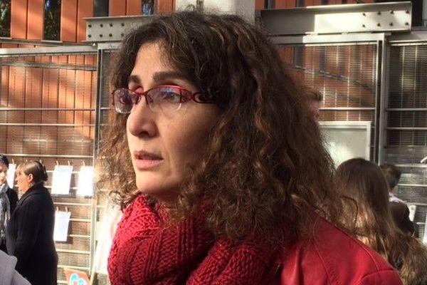 Céline Boussié devant le tribunal de Toulouse, ce mardi.