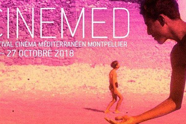 Affiche de la 40e édition du festival Cinemed qui se tient du 19 au 27 octobre 2018