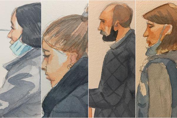Quatre des huit témoins entendus concernant la mort du petit Tony à Reims, lors du procès à la cour d'assises, le 2 février 2021.