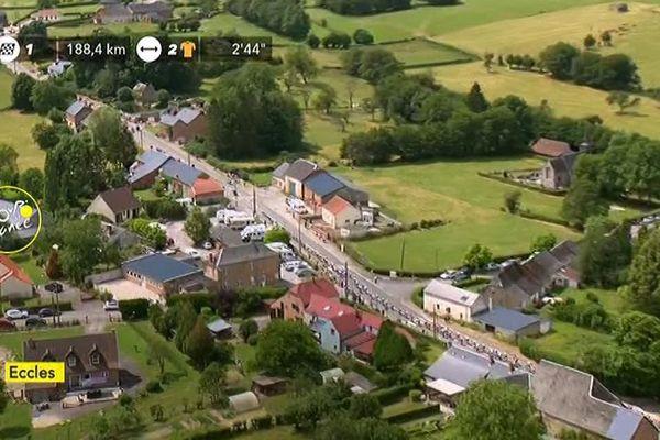Le village d'Eccles dans l'Avesnois a eu droit à quelques secondes de gloire sur France télévisions ce lundi pour le passage du tour de France.