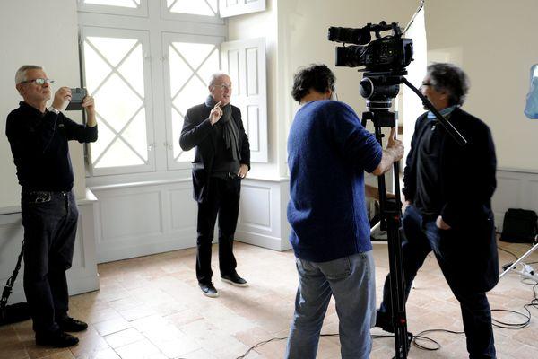 Bernard Le coq en plein tournage d'un film sur Pierre-Paul Riquet au château de la Réole
