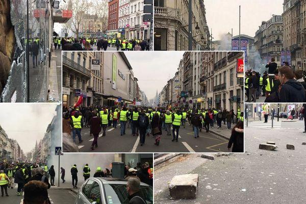 La manifestation des Gilets jaunes a dégénéré ce samedi 23 mars à Lille.