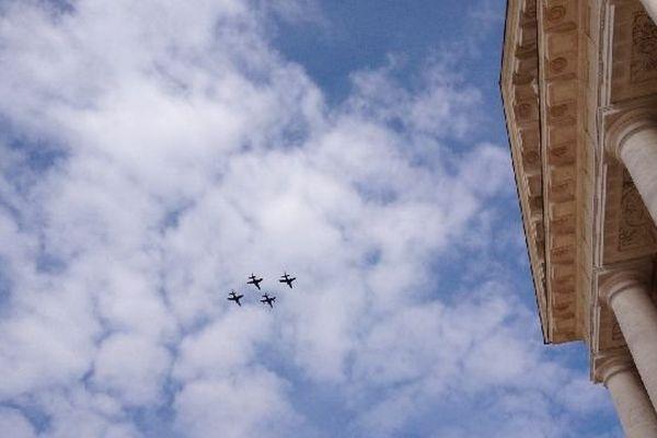 Les Alphajets de la Base Aérienne 102 font leurs adieux à Dijon