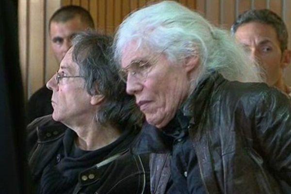 Eric Vigne, l'ancien mari de Lolo Ferrari, dans la salle d'audience du tribunal correctionnel de Clermont-Ferrand en septembre 2014.