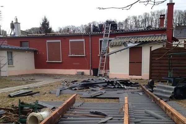Aperçu des dégâts causés par le coup de vent à Guise.