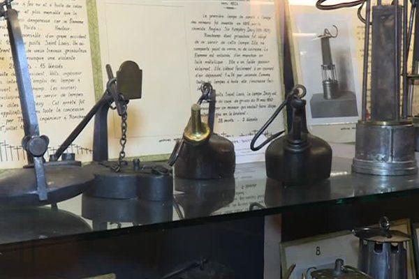Le musée possède une riche collection de lampes et d'outils de mineurs