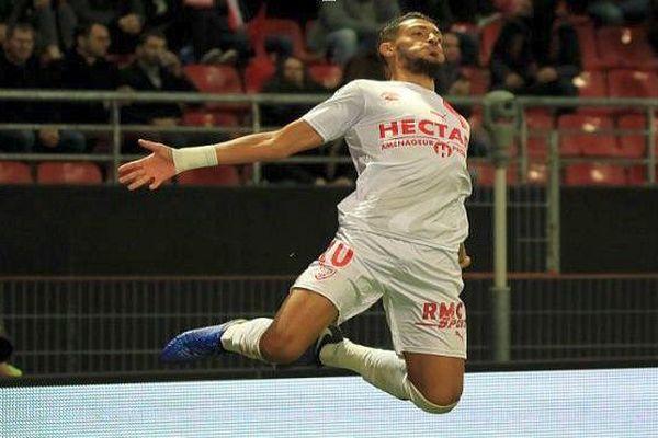 Le Nîmois Denis Bouanga lors de la victoire des Crocos 4-0 à Dijon - 3 novembre 2018