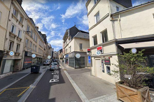 La rue Saint-Gervais rive droite à Rouen