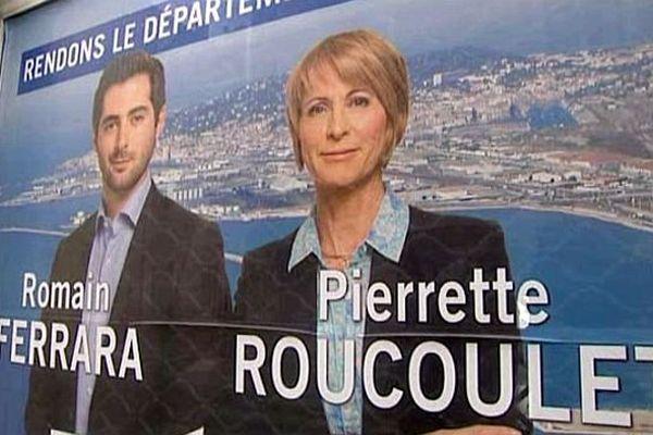 Affiche de campagne du tandem UMP/UDI pour le canton de Sète - 2015
