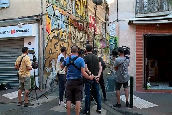 Un long métrage espagnol en tournage dans le quartier Arnaud Bernard à Toulouse.
