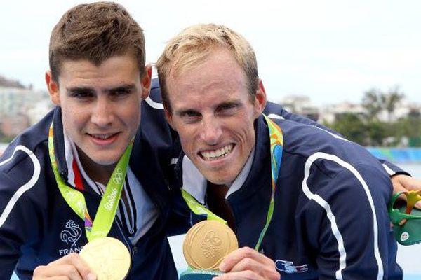 Pierre Houin et Jérémie Azou, deux rameurs en or à Rio