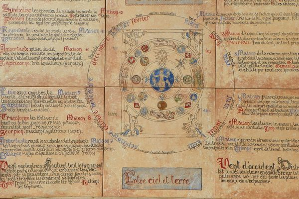 Marie-Hélène a réalisé ces panneaux d'après les manuscrits laissés par Hildegarde.