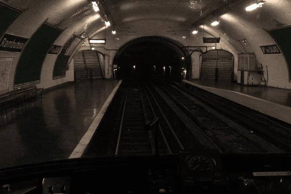 La station fantôme Portes des Lilas.