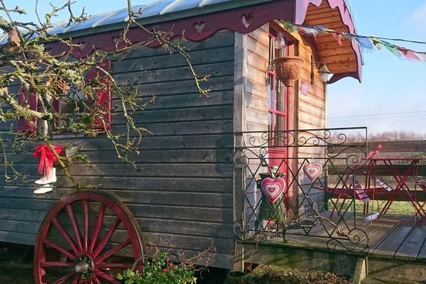 La roulotte bucolique de Saint-michel-sur-Meurthe.