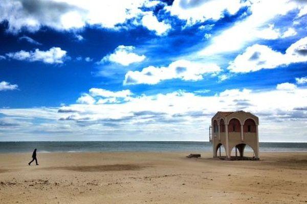 La plage de Port-La Nouvelle le 30 mars 2015