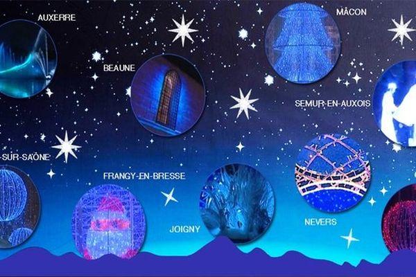 Une sélection des illuminations de fin d'année dans quelques villes bourguignonnes