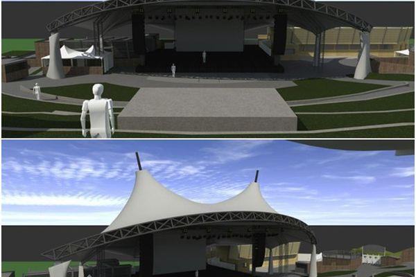 Projet de la nouvelle scène à Poupet (Vendée)