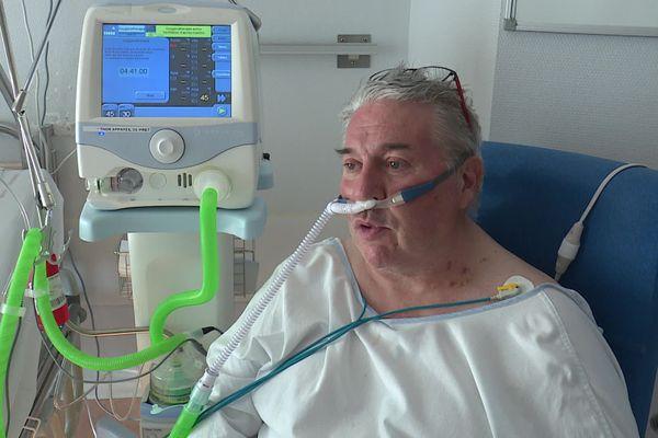 Daniel est hospitalisé dans l'unité post-réanimation de l'hôpital Minjoz de Besançon.