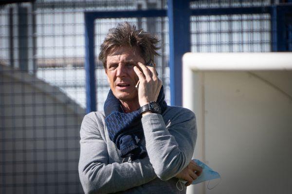Le président du club Frédéric Longuépée photographié en avril 2021.